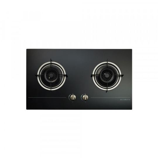 Picture of ZANUSSI 75CM PURE BLACK TEMPERED GLASS HOB, ZGG-7822EK/P